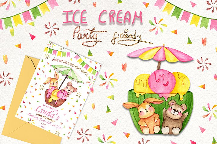 Ice Cream Party Friends example