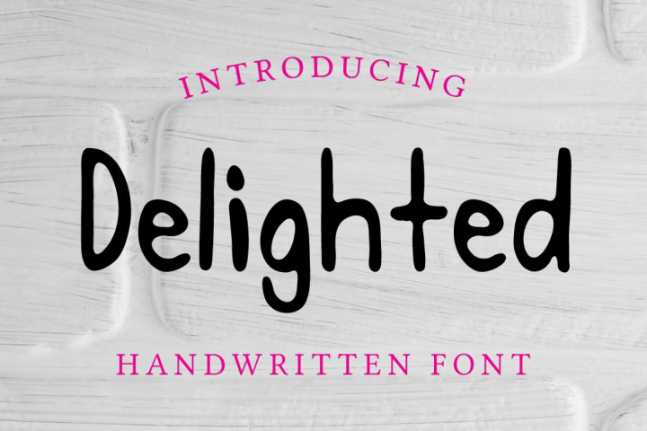 Delighted Hand Written Sans Serif Font