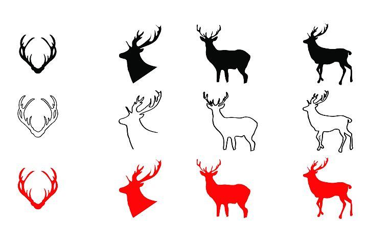 AA41- Deers- Antlers - SVG cut file - Deer - Antlers, Bundle