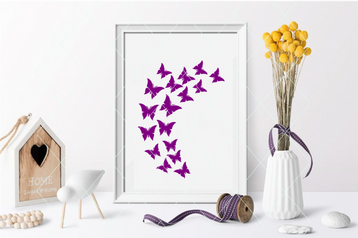 Beautiful butterfly svg, flock of butterflies svg, freedom