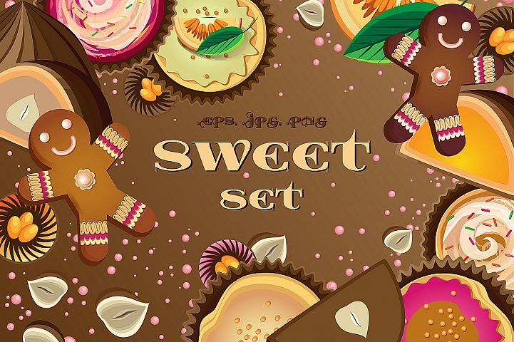 A set of sweet elements