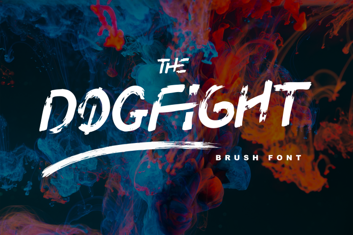 DOGFIGHT - Strong and Bold Brush Font