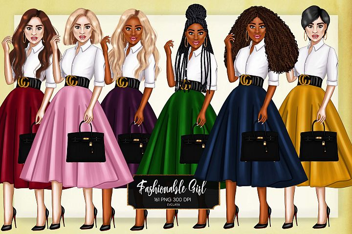 Girl Boss Clipart Fashion Girls Clipart African American