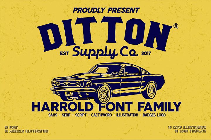 Harrold Font Bundle