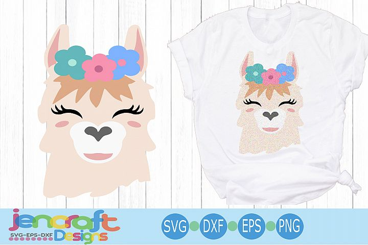 llama Floral face svg, alpaca svg, Eyelashes svg Head