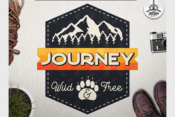Vintage Adventure Logo / Retro Camp Hipster Badge SVG