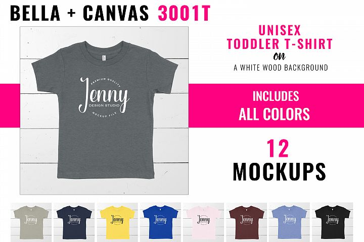 Bella Canvas 3001T Toddler Unisex Mockup Bundle