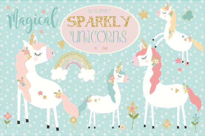 Sparkly unicorns