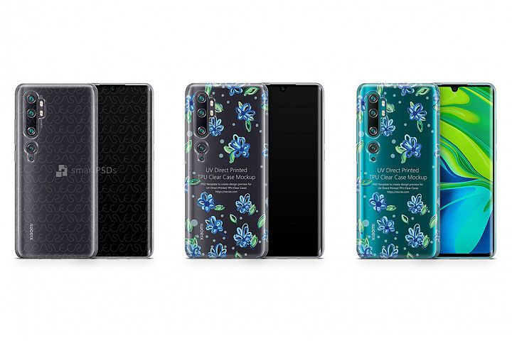 Xiaomi Mi Note 10 Pro 2019 TPU Clear Case Mockup
