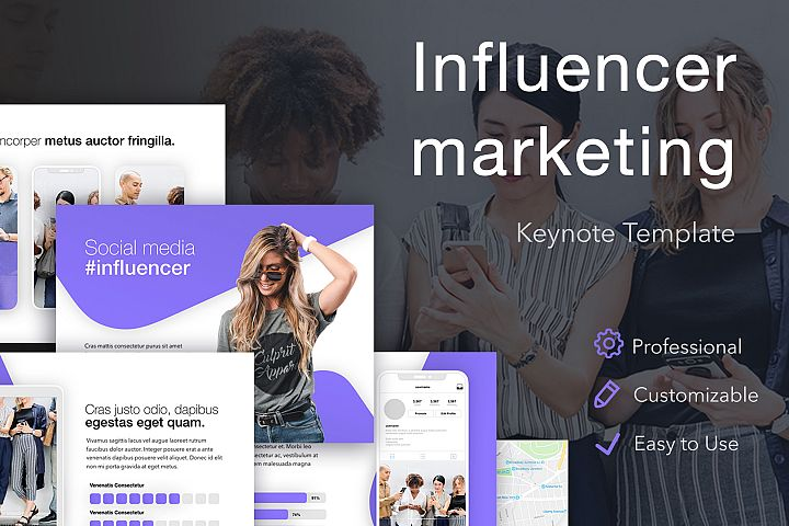 Influencer Marketing Keynote Template
