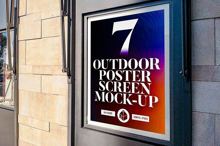 Outdoor Poster Screen Mock-Ups 2