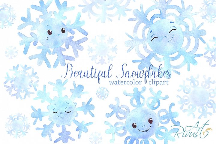 Cute snowflakes clipart PNG download. Christmas clip art.