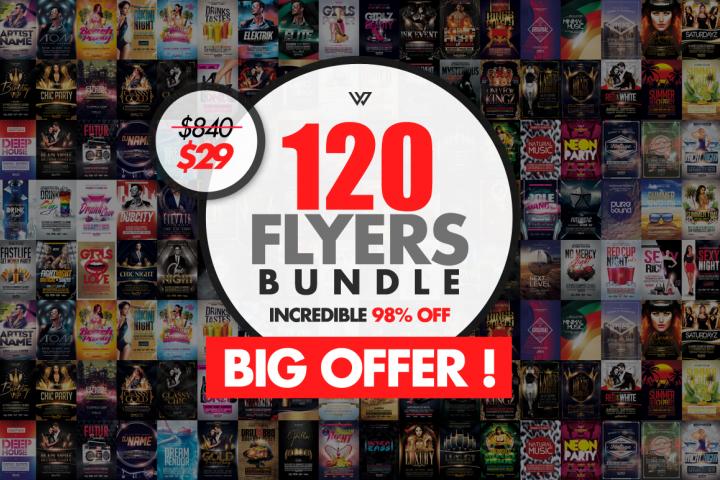120 Premium Flyer Templates Bundle