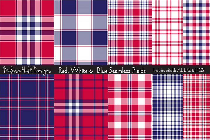 Red, White & Blue Plaids