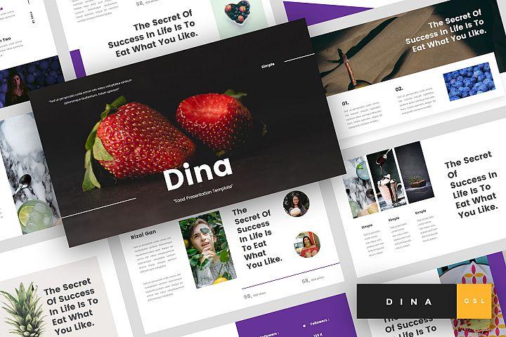 Dina - Food Google Slides Template