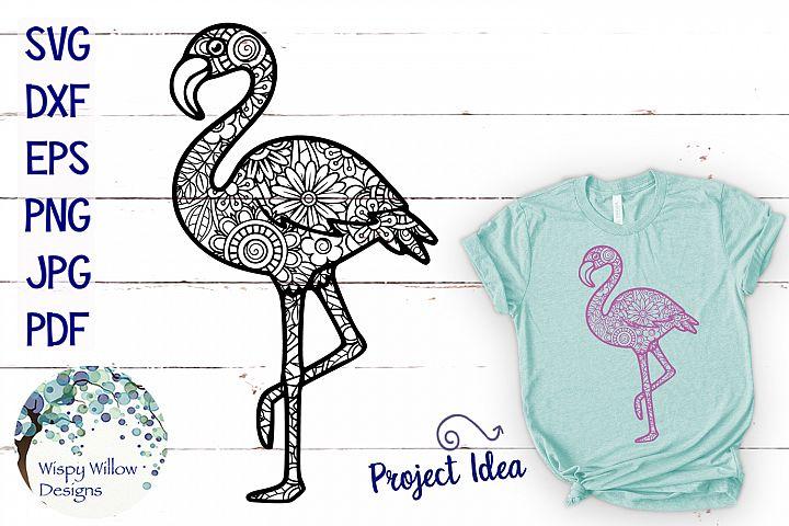 Flamingo Zentangle SVG