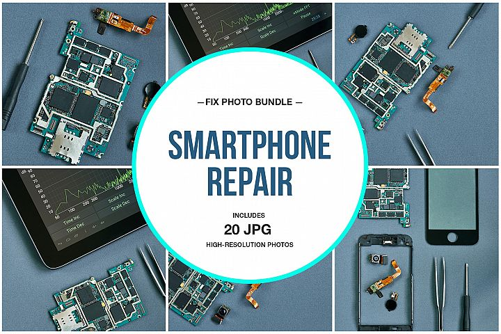 Smartphone Repair Photo Bundle