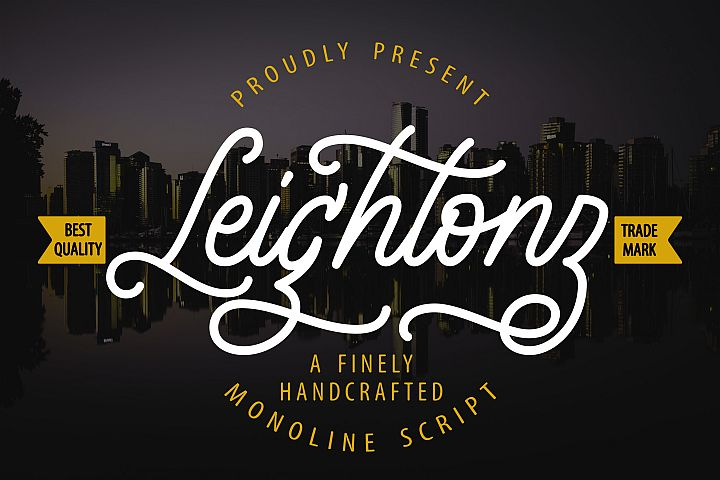 Leightonz | A Finely Handcrafted Monoline Script