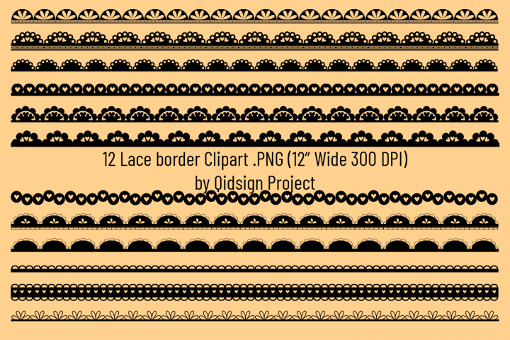 Lace Border Clipart . PNG