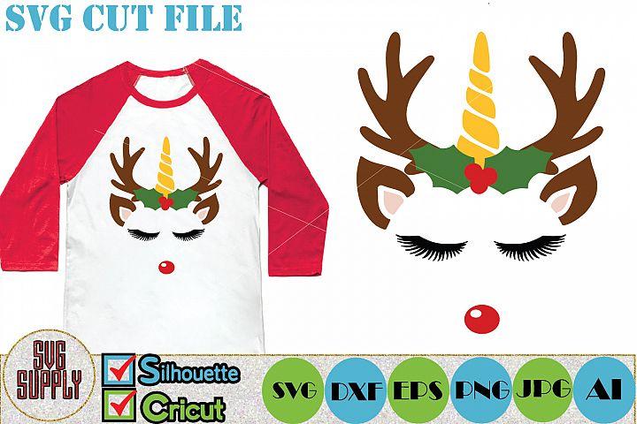 Unicorn Reindeer SVG