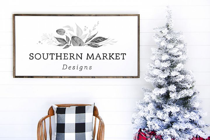 Christmas 24x48 Wood Sign Mock Up Styled Photography