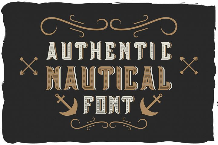 Authentic nautical typeface
