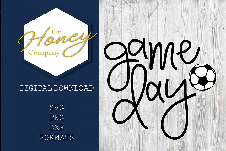 Soccer Game Day SVG PNG DXF Cutting File Mom Summer Vector