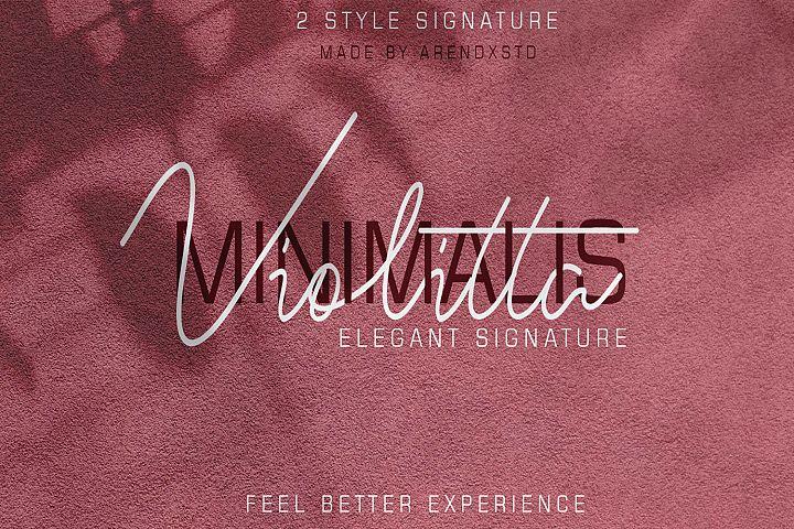 Violitta Signature typeface