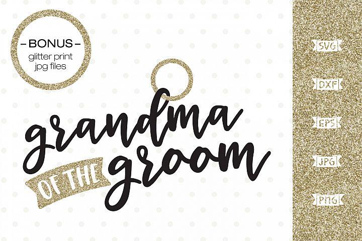Grandma of the Groom SVG file