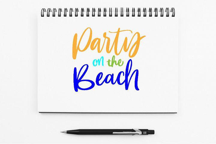 SVG - Pary On The Beach