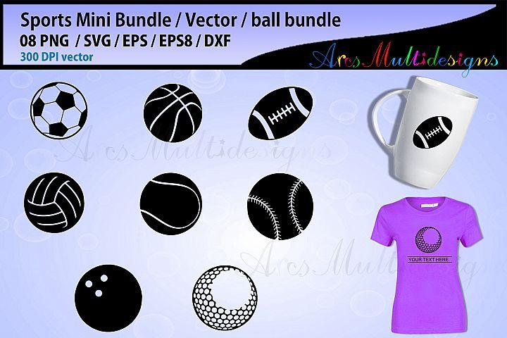 sports ball svg bundle - all sports ball vector bundle