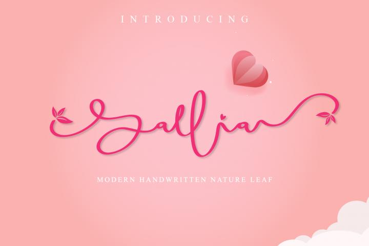 Sallia Handwritten Font