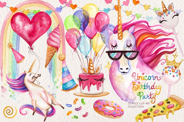 Watercolor Unicorn Birthday Party