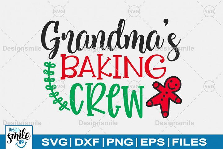 Grandma Baking Crew SVG DXF PNG EPS Cutting Files