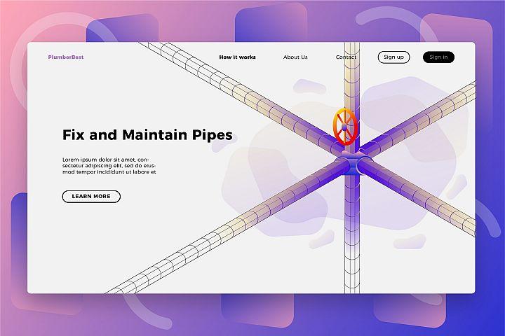 Plumber Maintenance - Banner & Landing Page