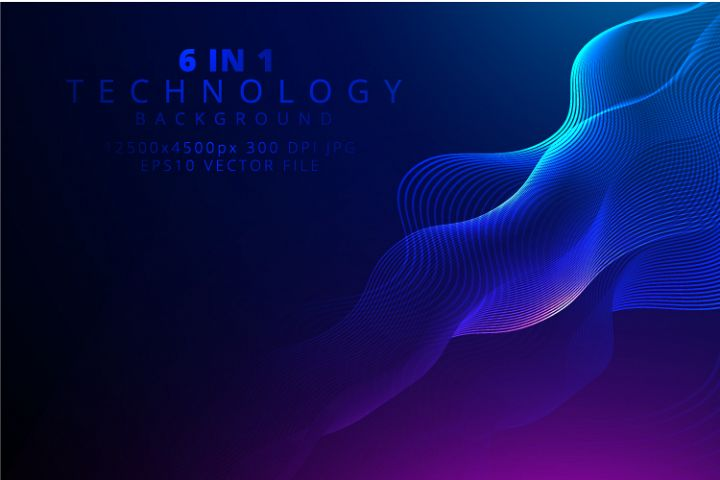 6 IN 1 WIDE SCREEN TECHNOLOGY BACKGROUNDS BUNDLE
