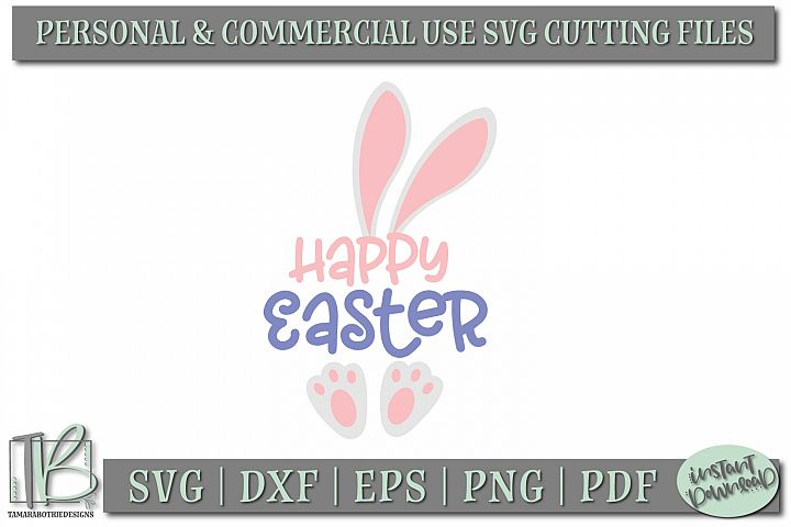 Happy Easter SVG, Easter SVG Cut Files example 1