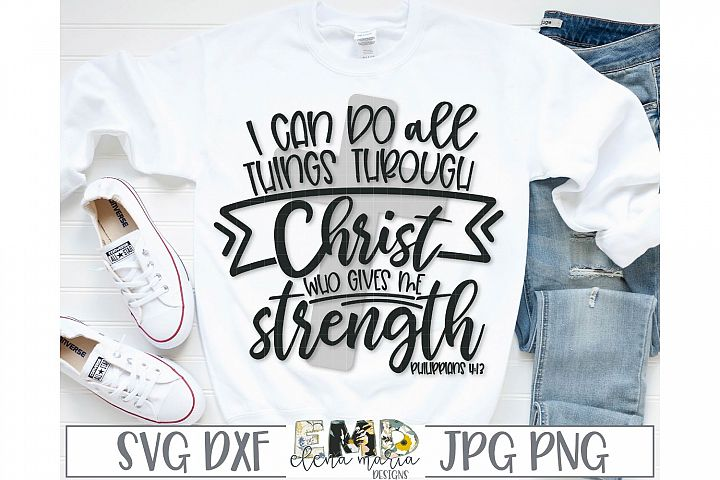Bible Verse SVG | I Can Do All Things Svg