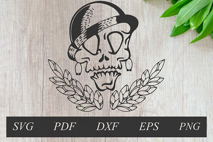 Skull svg,pirate ladies with wreath, clip art, cut file
