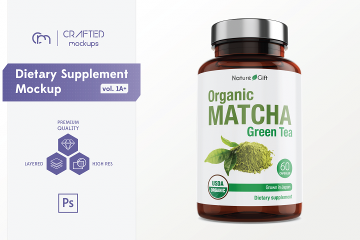 Dietary Supplement Mockup v. 1A Plus