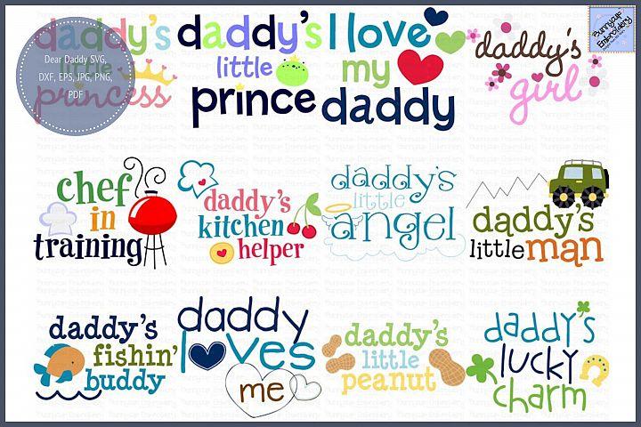 Dear Daddy Bundle - SVG, Clipart, Printables