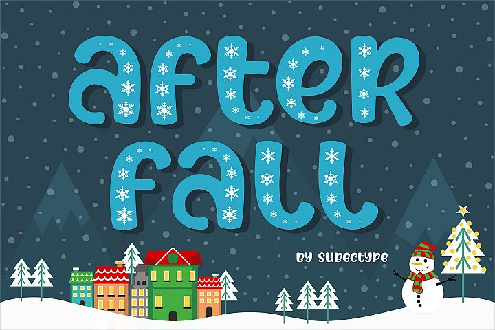 After Fall Winter and Xmas Font