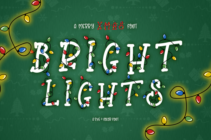 Bright Lights // A Merry Christmas Font