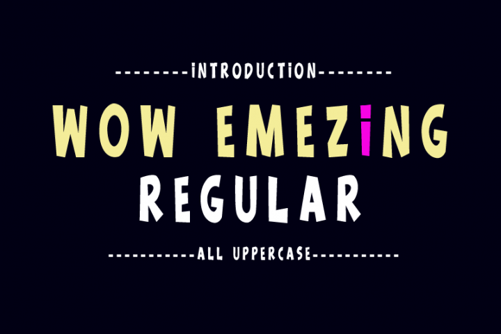 Wow Emezing Font Duo
