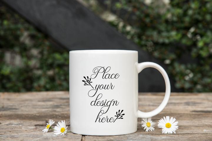 Coffee mug mock ups PSD rustic mockup mugs smart stock photo