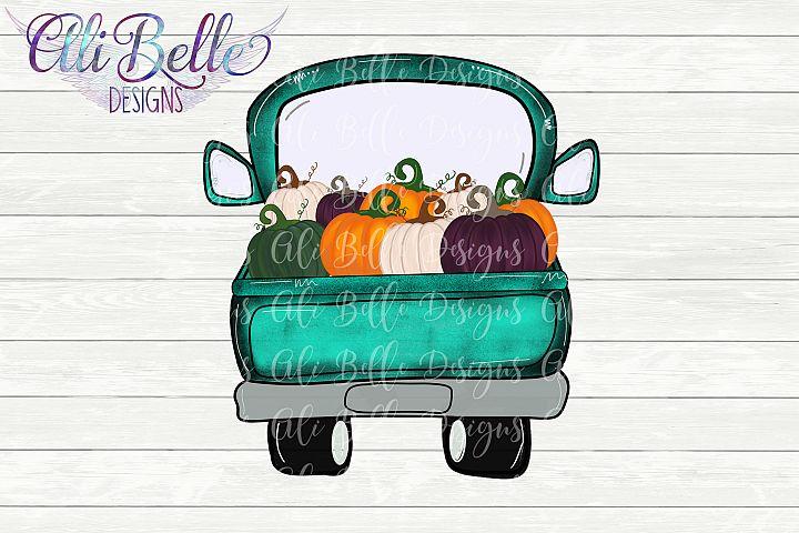 Sublimation Fall Pumpkin Truck