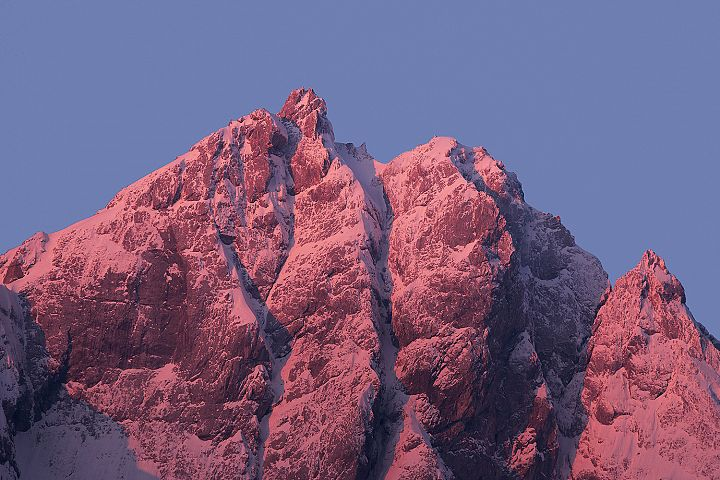 Mountain peaks in the morning