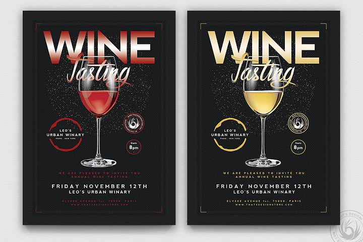 Wine Tasting Flyer Template V2