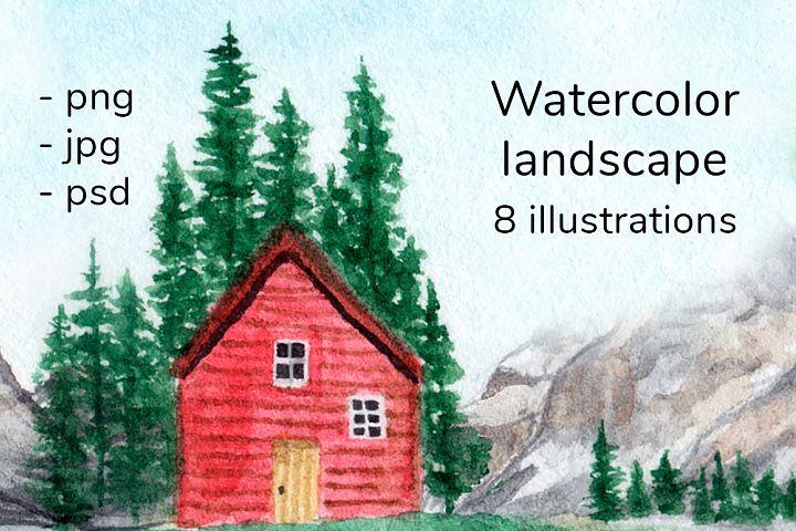 Watercolor lanscape