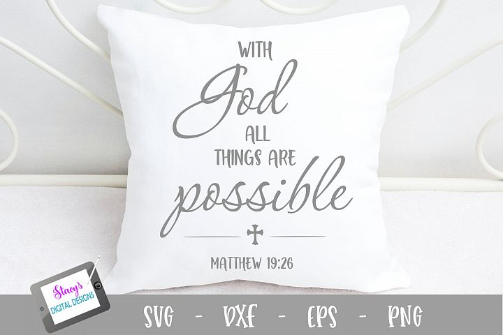 With God all things are possible SVG - Christian SVG